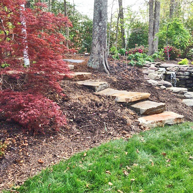 Planting Steps On A Hillside Can Create A Poetic Garden Scene